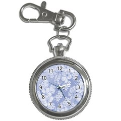 Delicate Floral Pattern,blue  Key Chain Watches by MoreColorsinLife