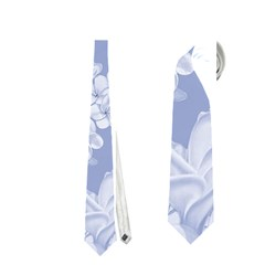 Delicate Floral Pattern,blue  Neckties (one Side)