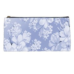 Delicate Floral Pattern,blue  Pencil Cases by MoreColorsinLife