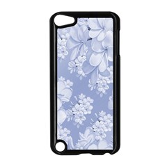 Delicate Floral Pattern,blue  Apple Ipod Touch 5 Case (black) by MoreColorsinLife