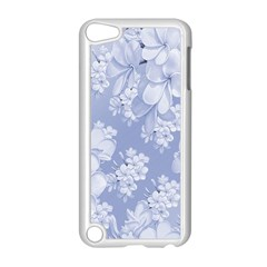 Delicate Floral Pattern,blue  Apple iPod Touch 5 Case (White) by MoreColorsinLife