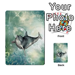 Funny Dswimming Dolphin Multi Purpose Cards (rectangle)