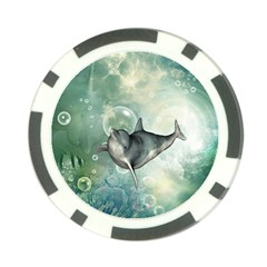 Funny Dswimming Dolphin Poker Chip Card Guards (10 Pack)