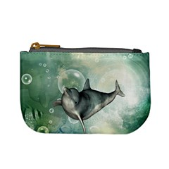 Funny Dswimming Dolphin Mini Coin Purses by FantasyWorld7