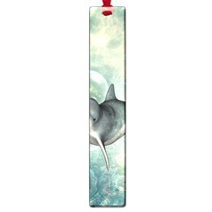 Funny Dswimming Dolphin Large Book Marks