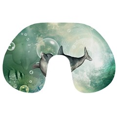 Funny Dswimming Dolphin Travel Neck Pillows