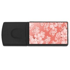 Delicate Floral Pattern,pink  Usb Flash Drive Rectangular (4 Gb)  by MoreColorsinLife