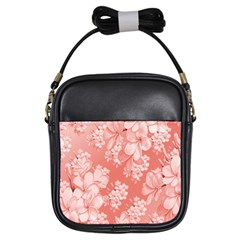 Delicate Floral Pattern,pink  Girls Sling Bags by MoreColorsinLife