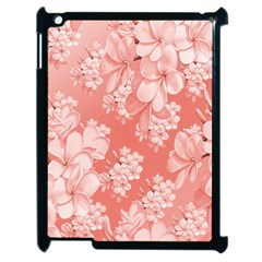 Delicate Floral Pattern,pink  Apple Ipad 2 Case (black) by MoreColorsinLife