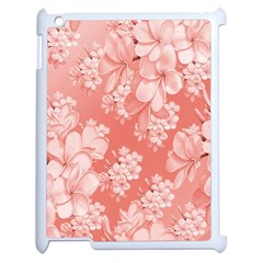 Delicate Floral Pattern,pink  Apple Ipad 2 Case (white) by MoreColorsinLife