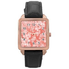 Delicate Floral Pattern,pink  Rose Gold Watches by MoreColorsinLife