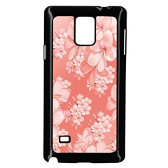 Delicate Floral Pattern,pink  Samsung Galaxy Note 4 Case (black) by MoreColorsinLife