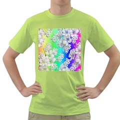 Delicate Floral Pattern,rainbow Green T Shirt