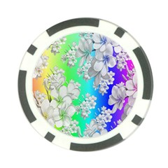 Delicate Floral Pattern,rainbow Poker Chip Card Guards (10 Pack)  by MoreColorsinLife