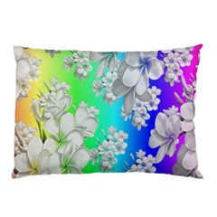 Delicate Floral Pattern,rainbow Pillow Cases (two Sides) by MoreColorsinLife