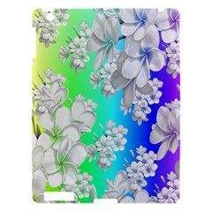 Delicate Floral Pattern,rainbow Apple Ipad 3/4 Hardshell Case by MoreColorsinLife