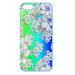 Delicate Floral Pattern,rainbow Apple Seamless Iphone 5 Case (color) by MoreColorsinLife