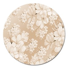 Delicate Floral Pattern,softly Magnet 5  (round) by MoreColorsinLife