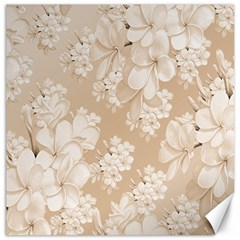 Delicate Floral Pattern,softly Canvas 20  x 20   by MoreColorsinLife
