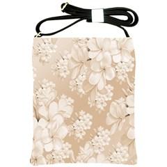 Delicate Floral Pattern,softly Shoulder Sling Bags by MoreColorsinLife