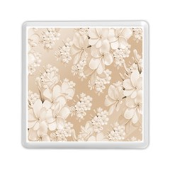 Delicate Floral Pattern,softly Memory Card Reader (Square)