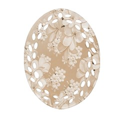 Delicate Floral Pattern,softly Ornament (oval Filigree)