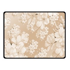 Delicate Floral Pattern,softly Double Sided Fleece Blanket (small)