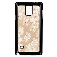 Delicate Floral Pattern,softly Samsung Galaxy Note 4 Case (Black) by MoreColorsinLife