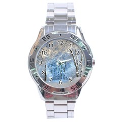 Another Winter Wonderland 1 Stainless Steel Men s Watch by MoreColorsinLife