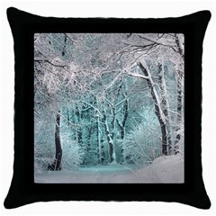 Another Winter Wonderland 2 Throw Pillow Cases (black) by MoreColorsinLife