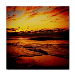 Stunning Sunset On The Beach 2 Tile Coasters by MoreColorsinLife