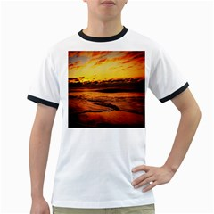 Stunning Sunset On The Beach 2 Ringer T Shirts by MoreColorsinLife