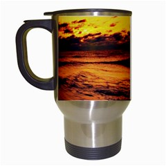 Stunning Sunset On The Beach 2 Travel Mugs (white) by MoreColorsinLife