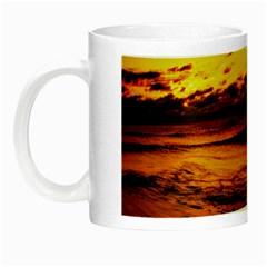 Stunning Sunset On The Beach 2 Night Luminous Mugs by MoreColorsinLife