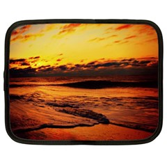 Stunning Sunset On The Beach 2 Netbook Case (xxl)  by MoreColorsinLife