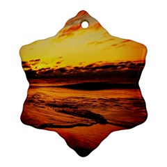 Stunning Sunset On The Beach 2 Ornament (snowflake)