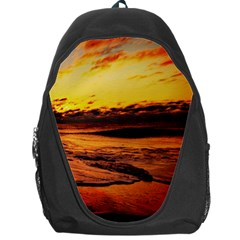Stunning Sunset On The Beach 2 Backpack Bag by MoreColorsinLife