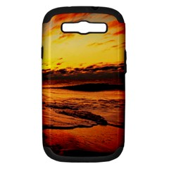 Stunning Sunset On The Beach 2 Samsung Galaxy S Iii Hardshell Case (pc+silicone) by MoreColorsinLife
