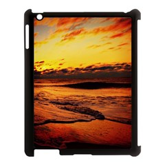 Stunning Sunset On The Beach 2 Apple Ipad 3/4 Case (black) by MoreColorsinLife
