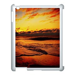 Stunning Sunset On The Beach 2 Apple Ipad 3/4 Case (white) by MoreColorsinLife