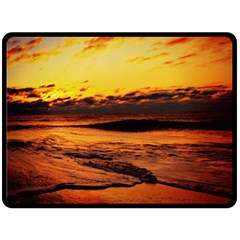 Stunning Sunset On The Beach 2 Double Sided Fleece Blanket (large)  by MoreColorsinLife