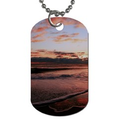 Stunning Sunset On The Beach 3 Dog Tag (two Sides) by MoreColorsinLife