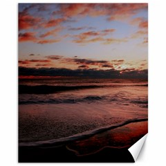 Stunning Sunset On The Beach 3 Canvas 11  X 14   by MoreColorsinLife