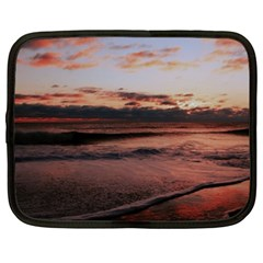 Stunning Sunset On The Beach 3 Netbook Case (xl)  by MoreColorsinLife