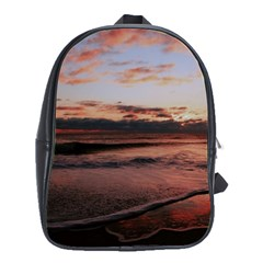 Stunning Sunset On The Beach 3 School Bags(large)  by MoreColorsinLife