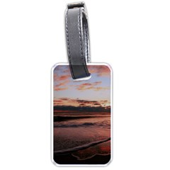 Stunning Sunset On The Beach 3 Luggage Tags (one Side)  by MoreColorsinLife