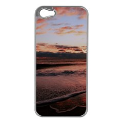 Stunning Sunset On The Beach 3 Apple Iphone 5 Case (silver) by MoreColorsinLife