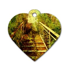Up Stairs Dog Tag Heart (One Side) by MoreColorsinLife