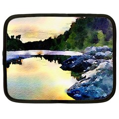 Stunning Nature Evening Netbook Case (large)	 by MoreColorsinLife