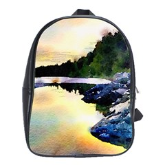 Stunning Nature Evening School Bags(large)  by MoreColorsinLife